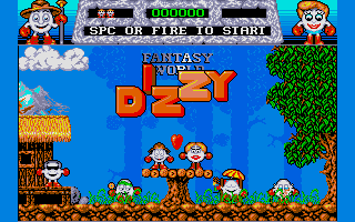 Fantasy World Dizzy - PC DOS, Title