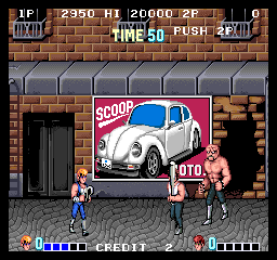Double Dragon - Arcade, 1 player