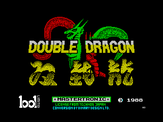 Play online - Double Dragon (ZX Spectrum)