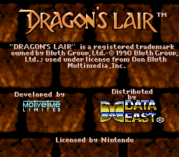 Play online Dragon's Lair for SNES