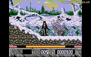 Elvira: The Arcade Game - PC DOS, Elvira on Frozen Earth
