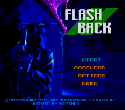 Play online Flashback for SNES