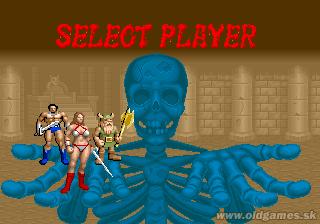 Arcade, Selecting Player