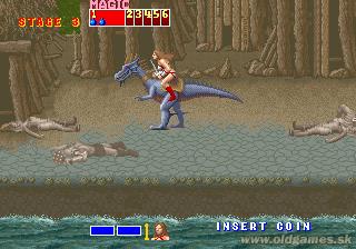 Arcade, Tyris riding Dragon
