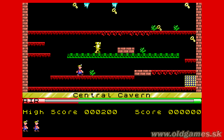 Manic Miner - PC DOS, Central Cavern (Level 1)