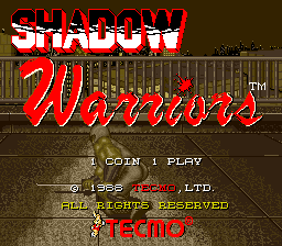 Arcade, Title - Shadow Warriors