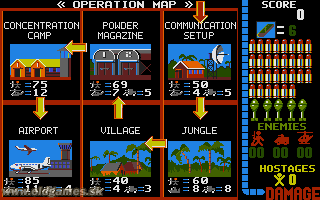PC DOS, Operation map