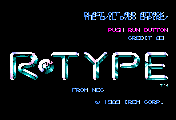 Play online R-Type for TurboGrafx-16
