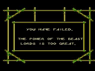 Sega Master System, Game Over