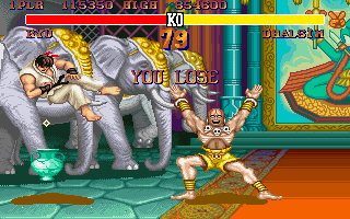 Street Fighter 2: The World Warrior - PC DOS, Ryu vs. Dhalsim