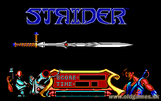 Strider - PC DOS, Title