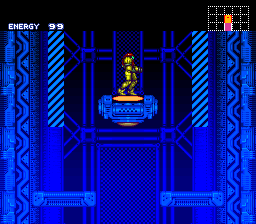 Super Metroid - SNES, Start game