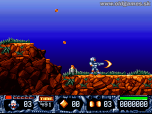 Turrican II: The Final Fight - PC DOS, Level 1 - Start...