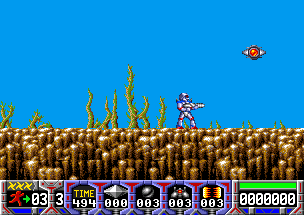 Turrican - Amiga, Start game...