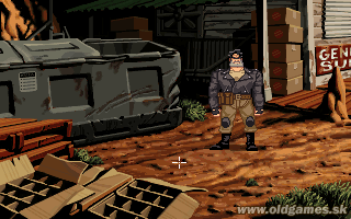 Full Throttle - PC DOS, Start game...