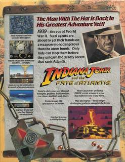 BOX Back - Indiana Jones and the Fate of Atlantis