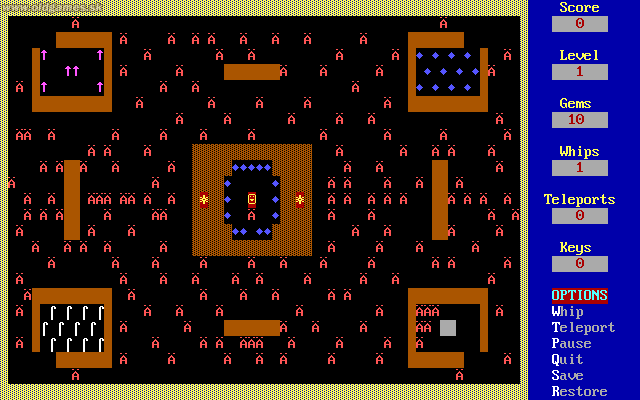 Dungeons of Kroz, Level 1