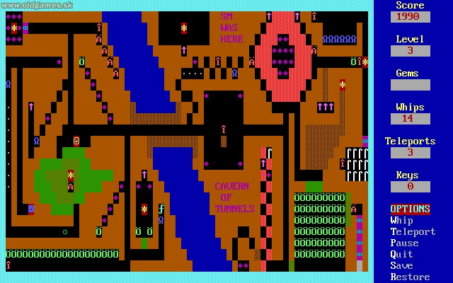 Dungeons of Kroz, Level 2
