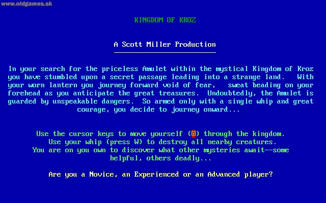 Kingdom of Kroz, Info
