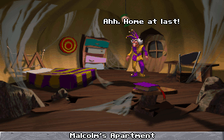 Legend of Kyrandia 3: Malcolm's Revenge - PC DOS, Malcolm at Home