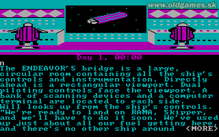 Rendezvous with Rama - PC (CGA), Endeavour's Bridge...