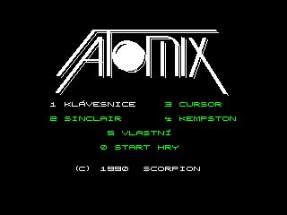 Play online Atomix (ZX Spectrum) [Czech]