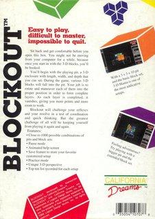 Blockout - Box scan - Back