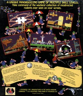 Lemmings - Box scan - Back