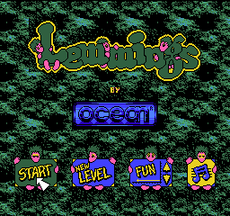 NES, Main menu