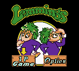 Game Boy Color, Main menu