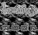 Game Boy, Main menu