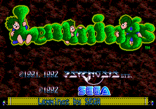 Sega MegaDrive, Title