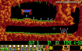 Lemmings - PC (VGA), Level 1