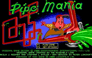 PC DOS, Title - Pipe Mania