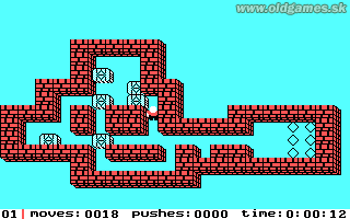 Soko-Ban (Sokoban) - PC (Tandy), Level 1