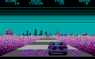 Crazy Cars - PC (CGA), Start...