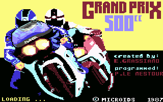 Grand Prix 500 cc - Commodore 64 - Title
