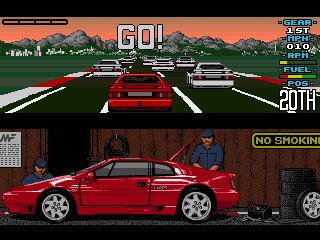 Lotus Esprit Turbo Challenge - Amiga, Single player - Start...