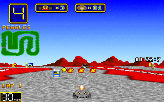 Wacky Wheels - PC DOS, Hehe