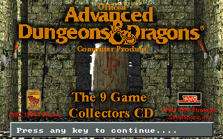Advanced Dungeons & Dragons: Collector's Edition - Installer title screen