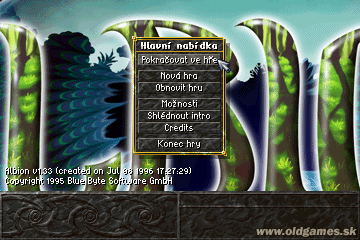 CZ verzia - hlavne menu