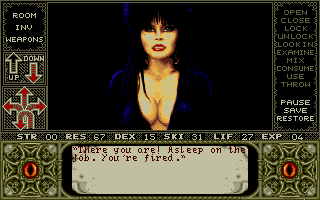 Elvira: Mistress of the Dark - PC DOS, Elvira