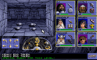 Eye of the Beholder - PC DOS, Kenku Eggs - special quest