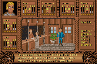 Fate: Gates of Dawn - Amiga, Bank - Winwood  talking