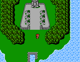 Final Fantasy - NES - first town (Coneria)