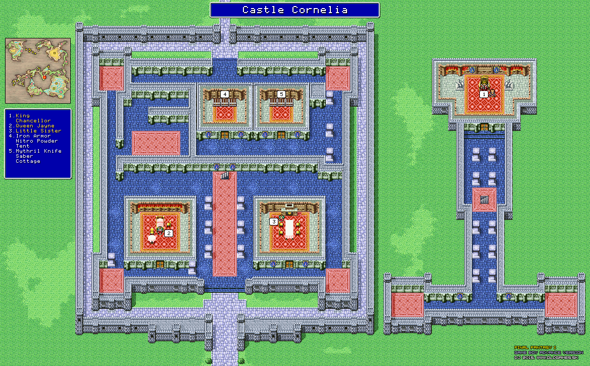 final fantasy dungeons and towns maps gba version png dj