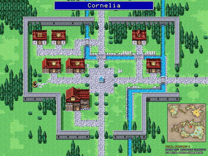 Final Fantasy Dungeons and Towns Maps, GBA version (png