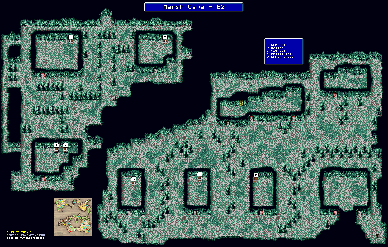 Ff1 Cavern Of Earth Map.Final Fantasy Maps Gba Gallery Dj Oldgames