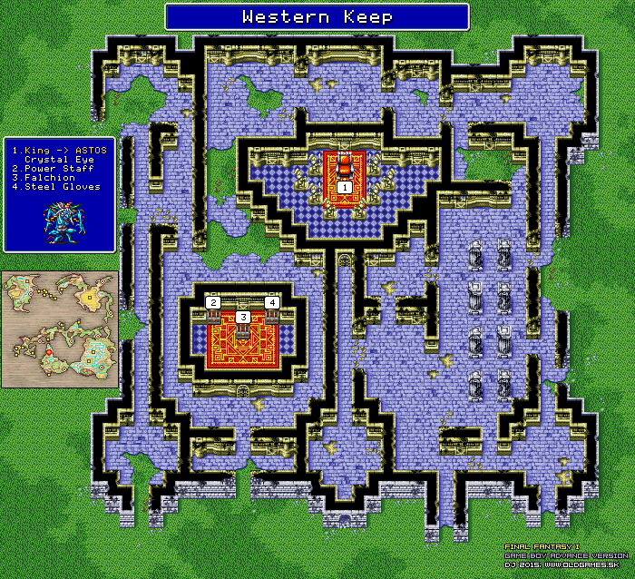 Final Fantasy Dungeons and Towns Maps, GBA version (png) :: DJ OldGames