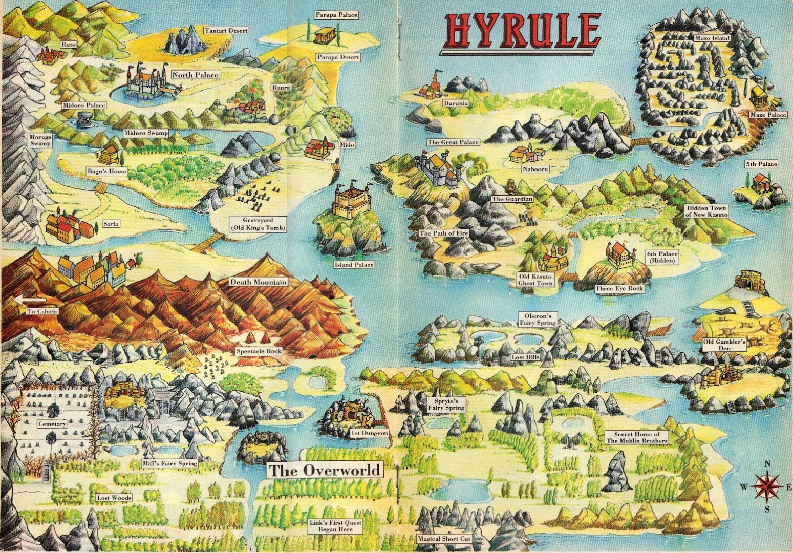 view map of hyrule ()  . legend of zelda the map of hyrule ()  dj oldgames